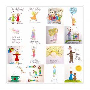 Vet du at på Instagram og Facebook ligger over 500 illustrasjoner til? Alle er til salgs!