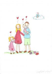 Ønsker du tegning av din familie, ta kontakt i innboks.